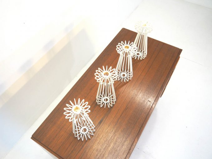 Nice architectural and decorative set of candleholders, 1970's.